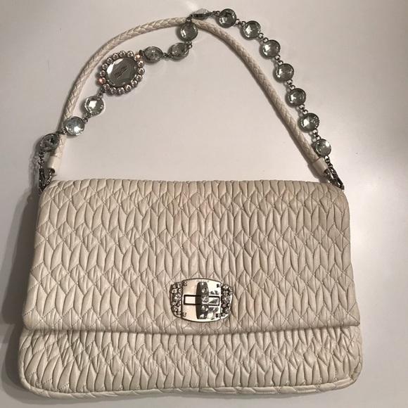 4f3b08b9657 Miu Miu Bags   Matelasse Ivory Quilted Cloque Bag   Poshmark
